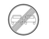 Dibujo de Fin de prohibición de adelantamiento para colorear