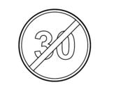 Dibujo de Fin de velocidad mínima para colorear