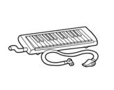 Dibujo de Flauta melódica para colorear