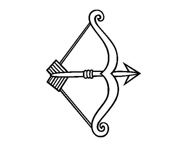 Dibujo de Flecha con arco para Colorear