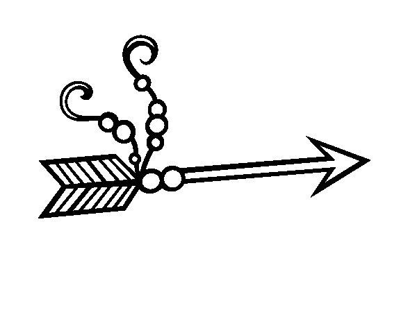 Dibujo de Flecha india para Colorear