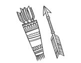 Dibujo de Flechas indias