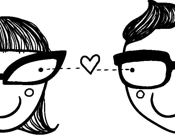Dibujo de Flechazo de amor para Colorear