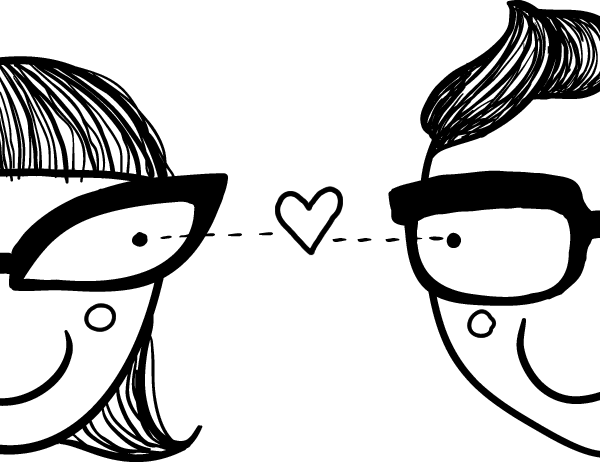 Dibujos De Amor Para Colorear: Dibujo De Flechazo De Amor Para Colorear