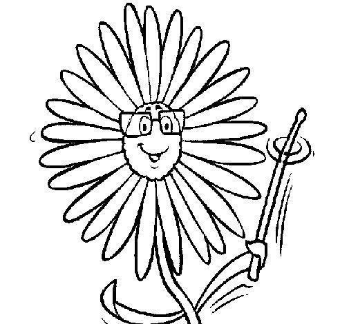 Dibujo de Flor para Colorear