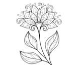 Dibujo de Flor decorativa para colorear