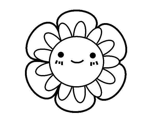 Dibujo de Flor infantil para Colorear