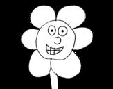 Dibujo de Flor sonriente para colorear