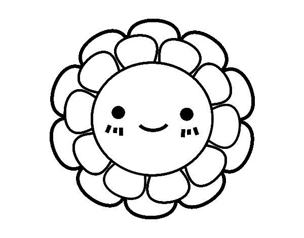 Dibujo de Florecita infantil para Colorear