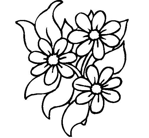 Dibujo de Florecitas para Colorear