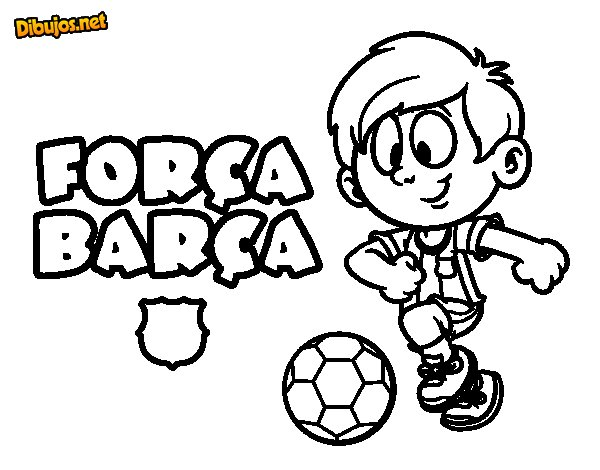 Dibujo de Força Barça para Colorear