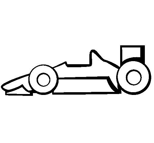 Dibujo de Fórmula 1 para Colorear