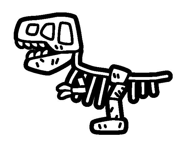 Dibujo de Fósil para Colorear