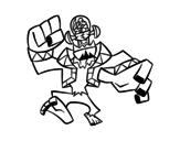 Dibujo de Frankenstein malvado