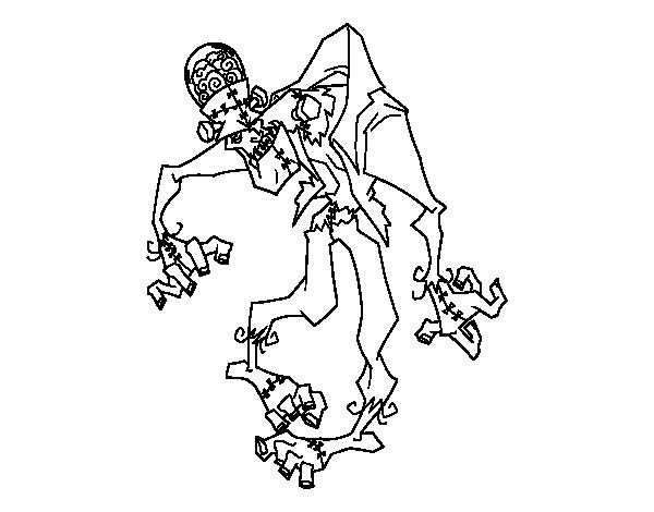 Dibujos De Zombies Para Imprimir Y Colorear: Dibujo De Frankenstein Zombie Para Colorear
