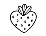 Dibujo de Fresa corazón