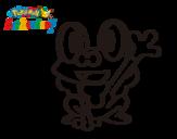 Dibujo de Froakie saludando para colorear