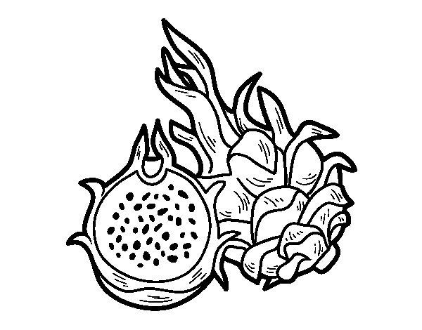 Dibujo de Fruta de la pasin para Colorear  Dibujosnet