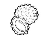 Dibujo de Fruta exótica lichi para colorear