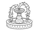Dibujo de Fuente para colorear