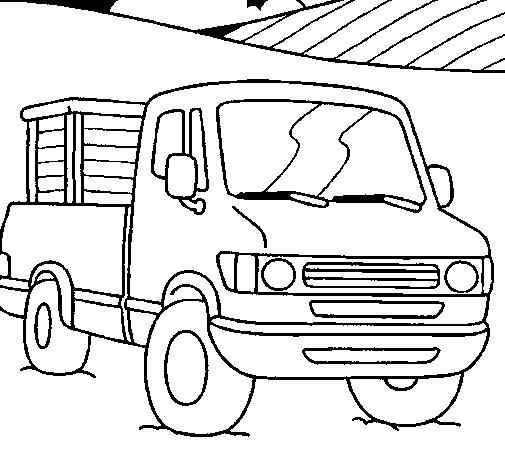 Dibujo de Furgoneta 1 para Colorear