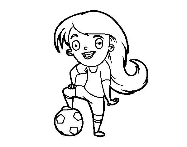 Dibujo de Ftbol femenino para Colorear  Dibujosnet