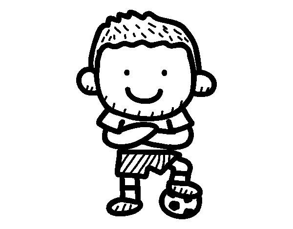 Dibujo de Fútbolista para Colorear