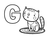 Dibujo de G de Gato para colorear
