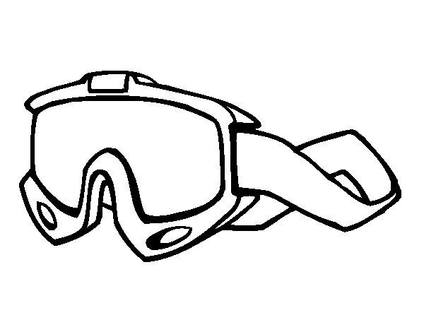 Dibujo de Gafas de esquí para Colorear