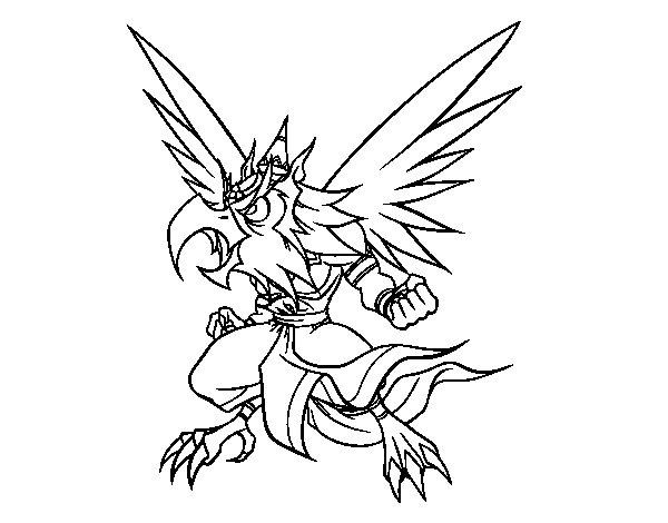 Dibujo de Garuda para Colorear