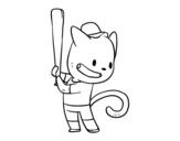 Dibujo de Gato bateador