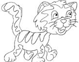 Dibujo de Gato con manchas para colorear