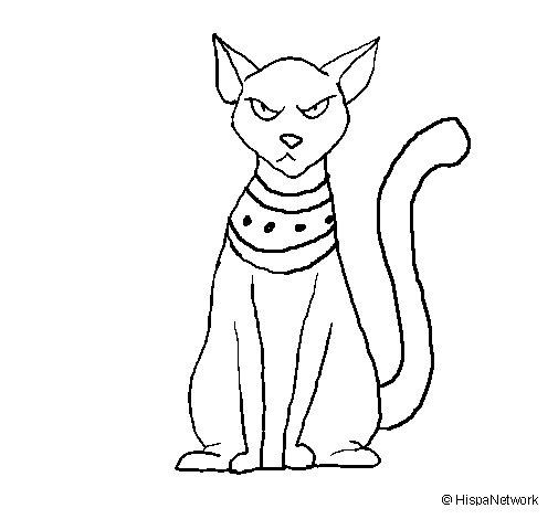 Dibujo de Gato egipcio para Colorear