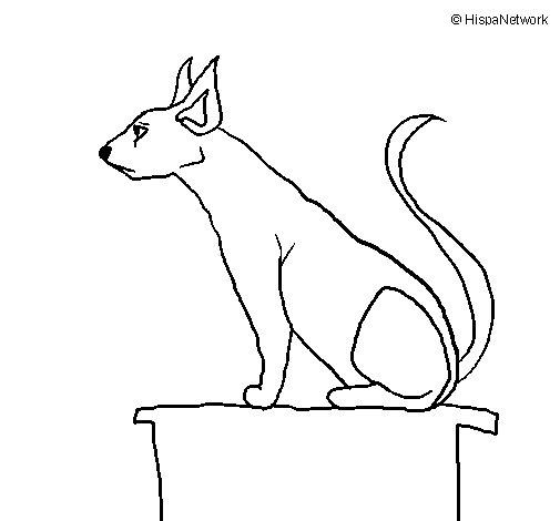 Dibujo de Gato egipcio II para Colorear