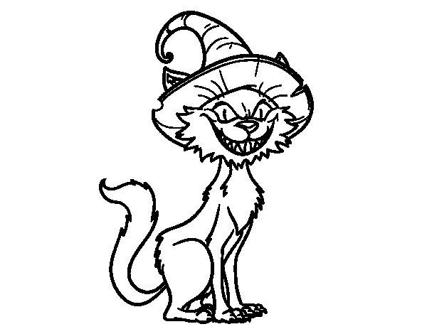 Dibujo de Gato embrujado para Colorear