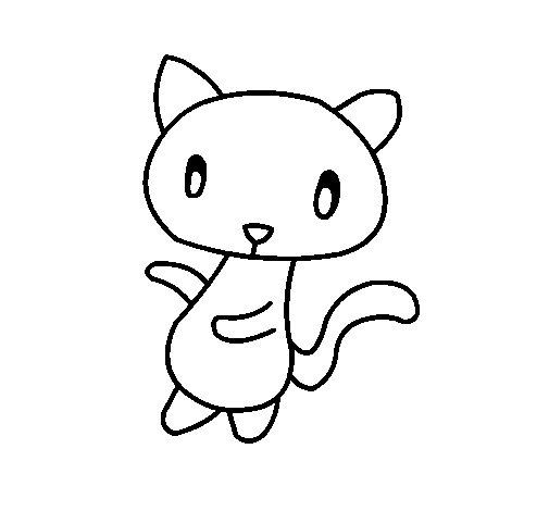 Dibujo de Gato garabato para Colorear  Dibujosnet