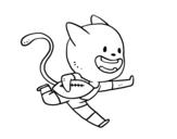 Dibujo de Gato jugando a rugby para colorear