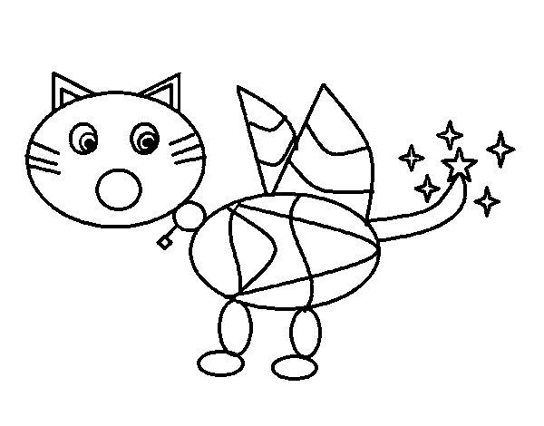 Dibujo de Gato mágico para Colorear