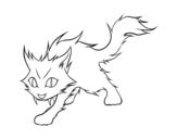 Dibujo de Gato Yule para colorear