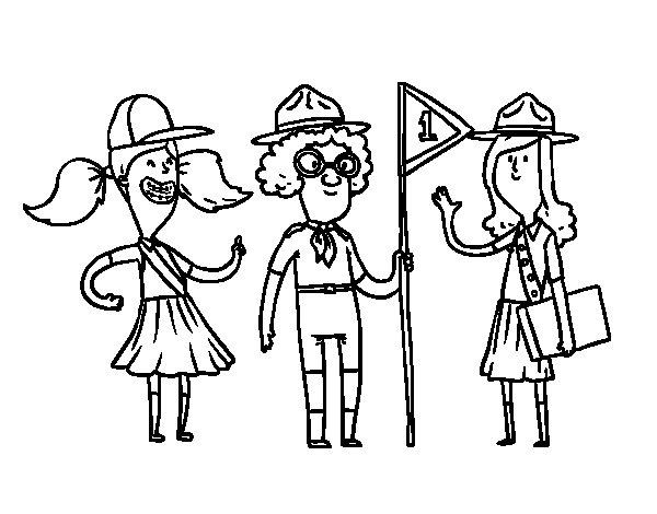 Dibujo de Girl Scouts para Colorear