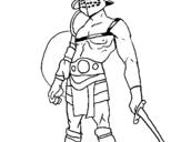 Dibujo de Gladiador para colorear