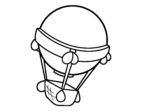 Worksheet. Dibujo de Globo aeroesttico para Colorear  Dibujosnet