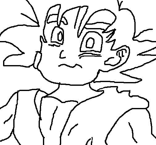 Dibujo de Goku para Colorear  Dibujosnet