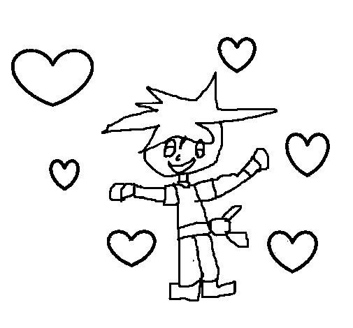 Dibujo de Goku enamorado para Colorear  Dibujosnet
