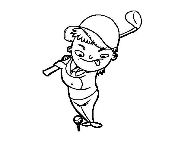 Dibujo de golf para colorear for Disegni sport da colorare