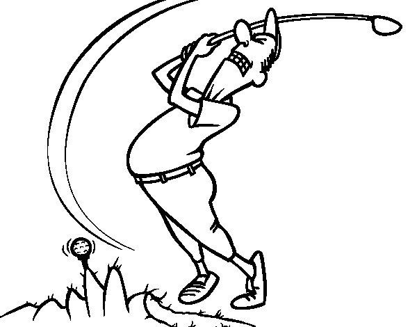 Dibujo de Golfista para Colorear