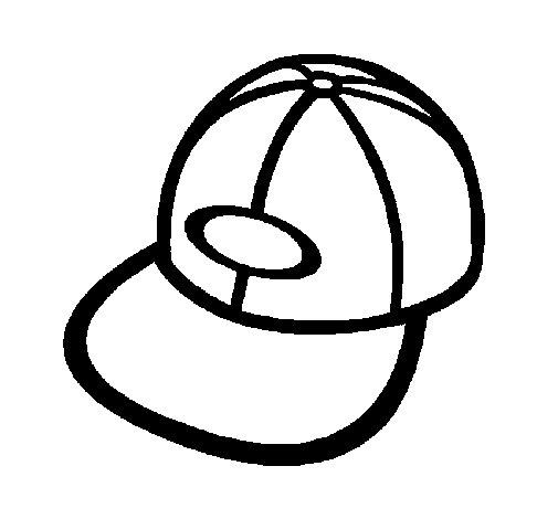 Dibujo de Gorra con visera para Colorear