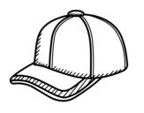 Dibujo de Gorra deportiva para colorear