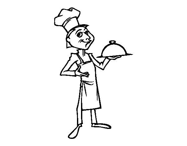 Dibujo de Gran chef para Colorear