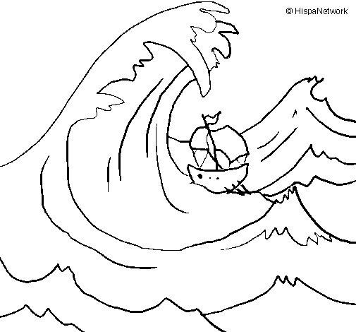Dibujo de Gran ola para Colorear  Dibujosnet